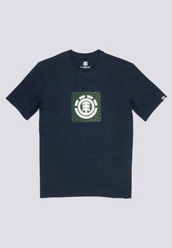 Element - LEOPARD BLOCK ICON - T-shirt imprimé - eclipse navy
