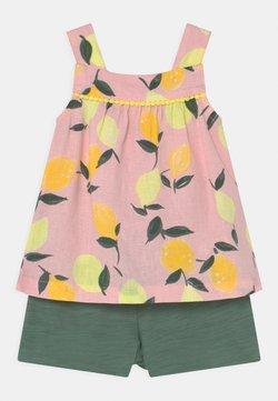 Carter's - 2-Piece Lemon Linen Tank & Slub Jersey Short Set - Shorts - light pink/khaki