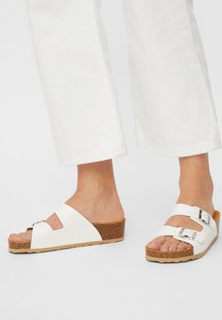Bianco - BIABETTY WEDGE BUCKLE - Chaussons - white