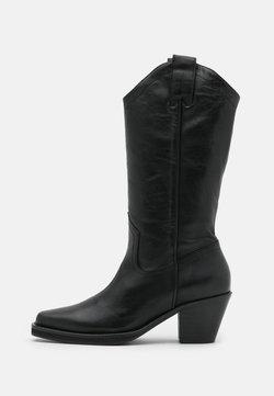 Selected Femme - SLFLOUISE - Cowboy-/Bikerboot - black