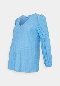 Pieces Maternity - PCMGERALDINE SLEEVE  - Blusa - little boy blue