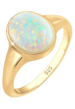 Elli - SYNTHETISCHER OPAL - Ring - gold-coloured