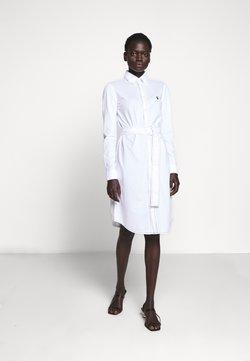 Polo Ralph Lauren - HEIDI LONG SLEEVE CASUAL DRESS - Korte jurk - white