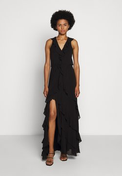 MICHAEL Michael Kors - SOLID RUFFLE MAXI - Occasion wear - black