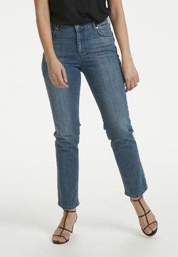 Denim Hunter - 33 THE CELINA HIGH CUSTOM - Jeans Straight Leg - medium blue vintage wash