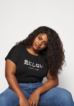 Even&Odd Curvy - T-Shirt print - black/white