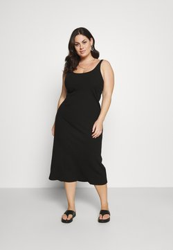Selected Femme Curve - SLFNANNA STRAP DRESS - Jersey dress - black