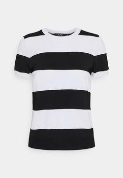 Lauren Ralph Lauren - KONSUELO SHORT SLEEVE - T-Shirt print - white/black