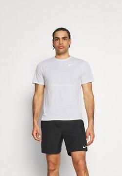 Nike Performance - RUN TOP - Camiseta estampada - white/silver