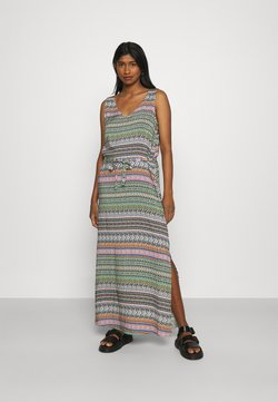 JDY - JDYSTAAR LIFE DRESS  - Maxi dress - cloud dancer/multicolor aztec