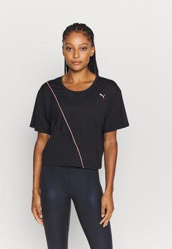 Puma - TRAIN PEARL TEE - T-shirt print - black