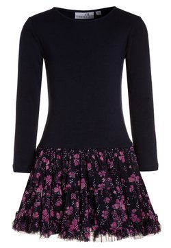 happy girls - MIT SCHMETTERLINGEN - Jerseykleid - navy