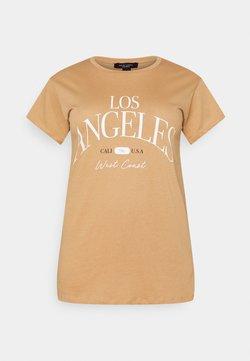 New Look Curves - LOS ANGELES - T-Shirt print - camel