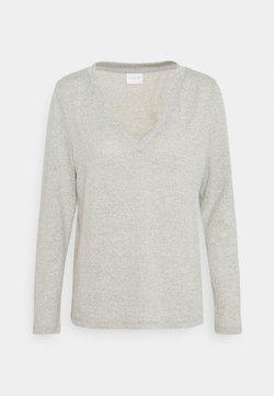 VILA PETITE - VILUNE NECK - Pullover - super light grey melange