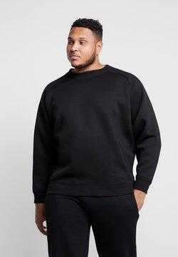 Urban Classics - ZIP POCKET CREW PLUS SIZE - Sweatshirt - black