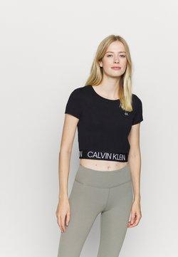 Calvin Klein Performance - SHORT SLEEVE - Printtipaita - black
