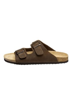 Next - BROWN TWO BUCKLE SANDAL - Hausschuh - brown