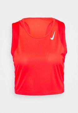 Nike Performance - RACE CROP - Top - bright crimson