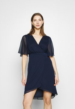 Vila - VIRILLA 2/4 SLEEVE DRESS - Cocktailkleid/festliches Kleid - navy
