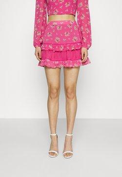 Glamorous - RUFFLE SKIRTS - Minirock - pink