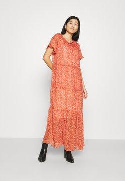 Saint Tropez - XELINASZ DRESS - Vestido largo - red orange puff sky