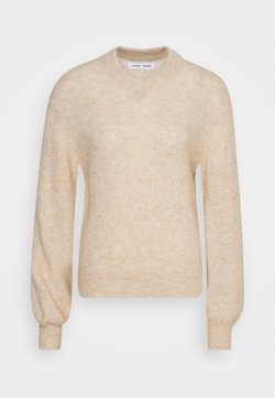 Samsøe Samsøe - JACI CREW NECK - Strikkegenser - winter wheat