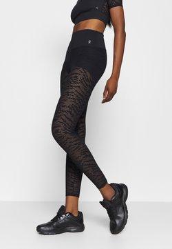 Good American - ZEBRA LEGGING - Tights - black