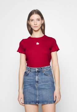 Hollister Co. - MAY TEE - T-Shirt print - red