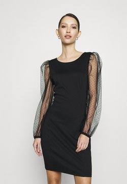 Vila - VISPENSA DRESS - Sukienka z dżerseju - black