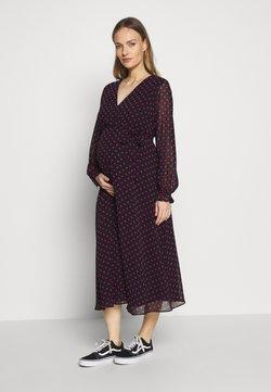 Dorothy Perkins Maternity - SPOT WRAP DRESS - Vardagsklänning - black
