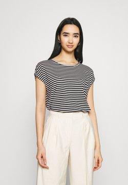 Vero Moda - VMAVA PLAIN STRIPE - T-Shirt print - black/pristine