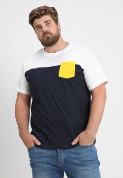 Urban Classics - TONE POCKET TEE - T-shirt basic - navy/ white/ chromeyellow