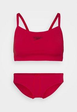 Speedo - ESSENTIAL ENDURANCE THINSTRAP SET - Bikini - fed red