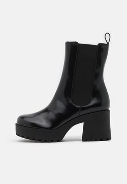 Monki - VEGAN MALWINA BOOT - Enkellaarsjes met plateauzool - black