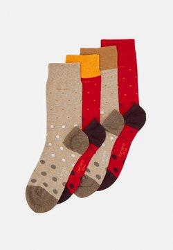 camano - SOCKS UNISEX 4 PACK - Socken - true red
