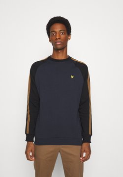 Lyle & Scott - COLOUR BLOCK CREW - Felpa - dark navy