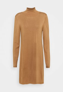 Vero Moda Tall - VMGLORY ROLLNECK DRESS - Gebreide jurk - tobacco brown