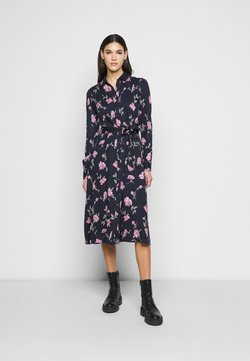 PIECES Tall - PCGLYDA MIDI DRESS - Blusenkleid - sky captain/winsome orchid flowers