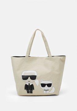 KARL LAGERFELD - IKONIK KARL CHOUPETTE TOTE - Shopping bag - natural
