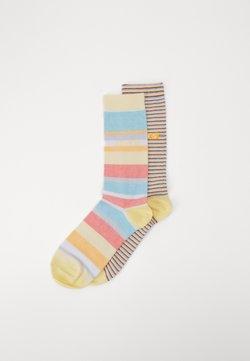 Levi's® - REGULAR CUT MICRO STRIPE 2 PACK - Socken - orange/blue/white