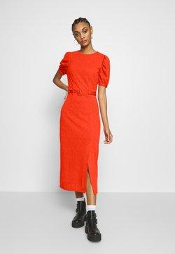 Lost Ink - BELTED MIDI DRESS - Vestido ligero - orange