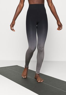 Even&Odd active - SEAMLESS - Tights - black/grey