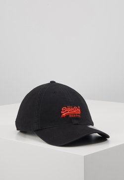 Superdry - ORANGE LABEL CAP - Lippalakki - black
