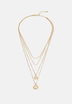 Pieces - PCHOLLIA COMBI NECKLACE KEY - Necklace - gold-coloured