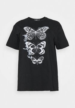 Missguided Plus - BUTTERFLY GRAPHIC  - Camiseta estampada - black