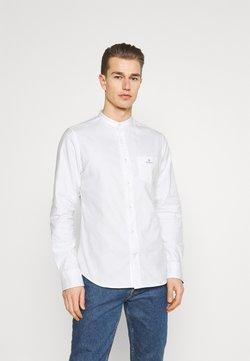 GANT - SLIM BRUSHED BAND COLLAR - Camisa - white