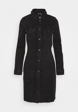 Vero Moda - VMAVIIS STITCH DRESS - Dongerikjole - black