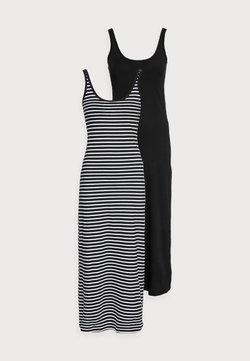 Vero Moda Petite - VMNANNA ANCLE DRESS PETITE 2 PACK - Maxiklänning - black/black/snow white
