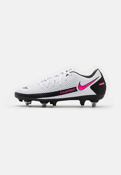 Nike Performance - PHANTOM GT ACADEMY SG-PRO - Screw-in stud football boots - white/pink blast/black