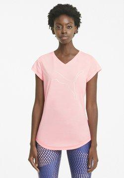Puma - T-shirt con stampa - elektropeachhthercat outline